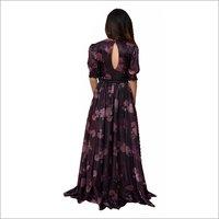 Wine Gown Fabric Organza Flora