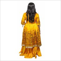 Yellow Frock Shirt With Sharara