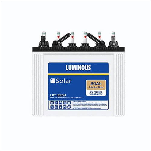 20 Ah Luminous Solar Tubular Battery