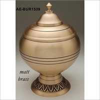 Solid Brass Funeral Urn