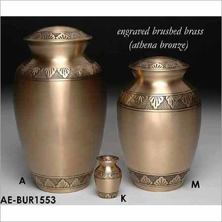 Solid Brass Athena Bronze Cremation Urn