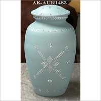 Diamond Cut Blue Cremation Urn