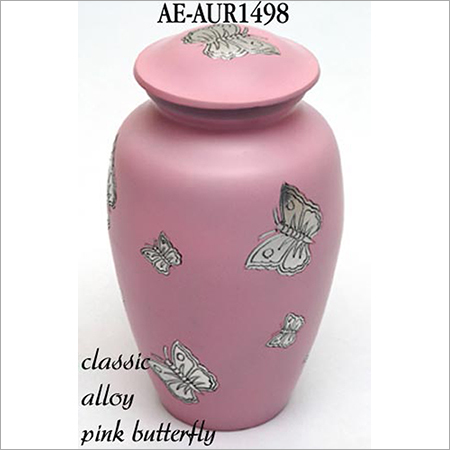 Silver Butterfly Cremation Urn