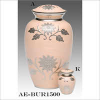 Sunflower Engraved Gorgeous Pink Cremation Urn