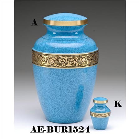 Adriatic Blue Brass Cremation Urn