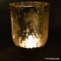 CANDLE HOLDER WITH SILVER FINISH
