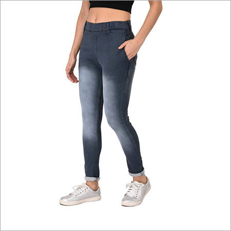 Girls Non Printed Denim Jeans