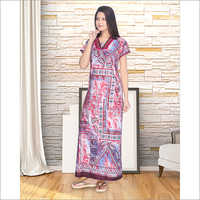 Long Printed Nighty
