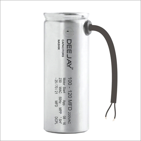 Aluminium Dry Type Motor Start Capacitor