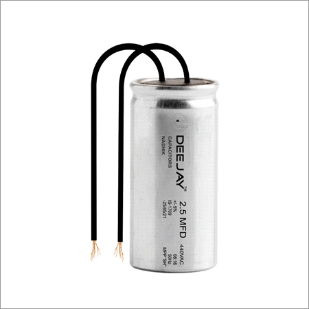 Fan Capacitor Aluminium Can With Wire Dry Type