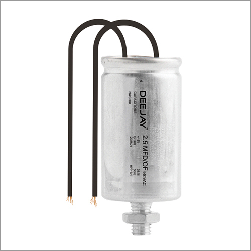 Fan Capacitor (ALUMINIUM STUD) with wire dry type