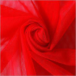 Red Polyester Mono Net Fabric
