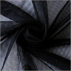 Black Polyester Mono Net Fabric