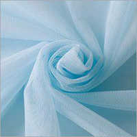 Sky Blue Polyester Mono Net Fabric