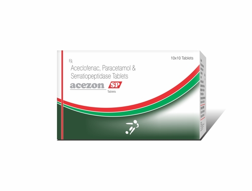 Truworth Acezon Sp (Aceclofenac + Paracetamol + Serratiopeptidase Tablets)
