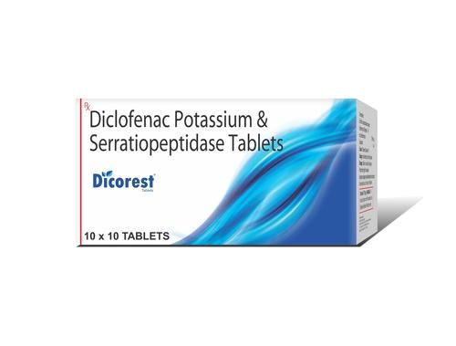Truworth Dicorest Tab ( Diclofenac Potassium + Serratiopeptidase Tablet)