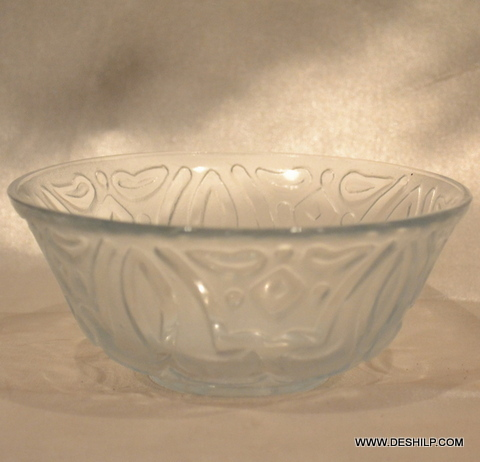 CUTTING GLASS TABLE BOWL FOR LUNCH, DINNER