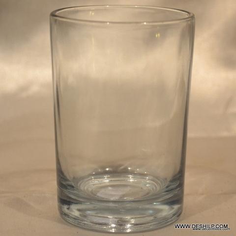 PLAIN & CLEAR GLASS TUMBLER