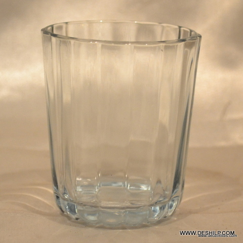 ANTIQUE TEA AND WATER USES GLASS TUMBLER