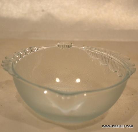 CLEAR CUTTING GLASS BOWL