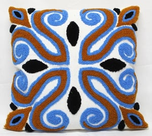 Multicolor Manuel Embroidery Cushion Cover