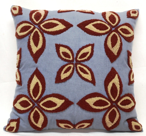 Flower Design Embroidery Cushion Cover