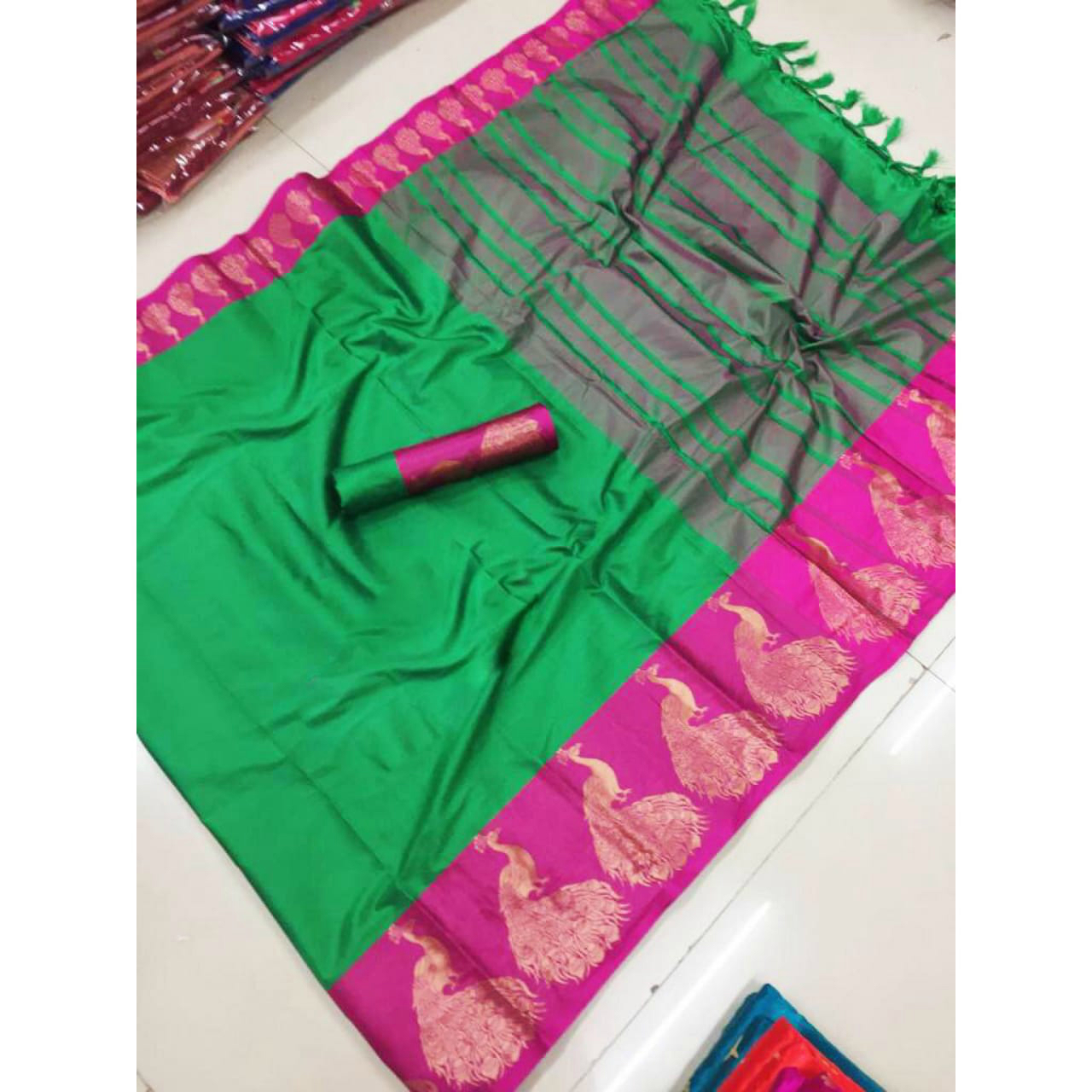 Exclusive Cotton Silk Jacquard Saree