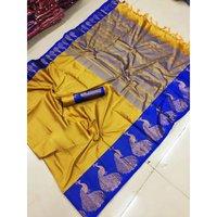 Exclusive Cotton Silk Jacquard Saree