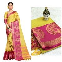 Exclusive Cotton silk Peacock Design Saree