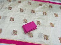 Exclusive Assam Silk Embroidered Saree