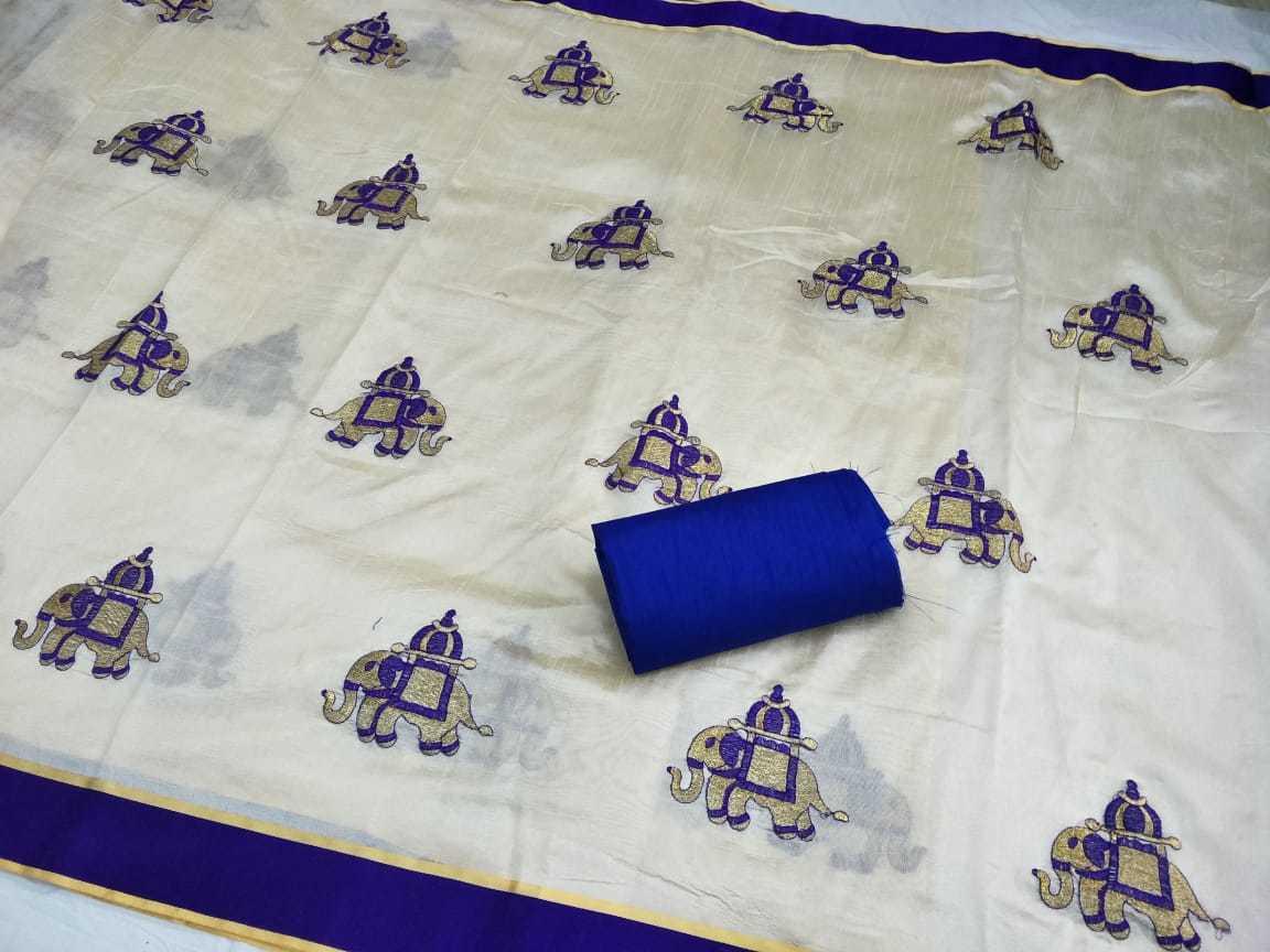 Exclusive Assam Silk Embroidered Saree