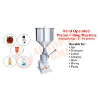 Hand Operated Cream And Paste Filling Machine