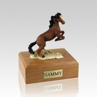 Brown Medium Horse Cremation Urn