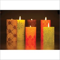 Hand Painted Pillar Candles