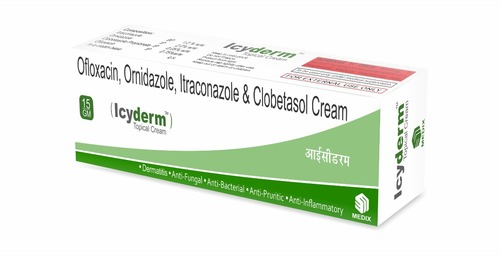 Ofloxacin, Ornidazole, Itraconazole & clobetasol Cream