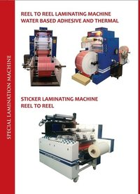 REEL TO REEL LAMINATOR SPECIAL DESIGNED PRODUCTS