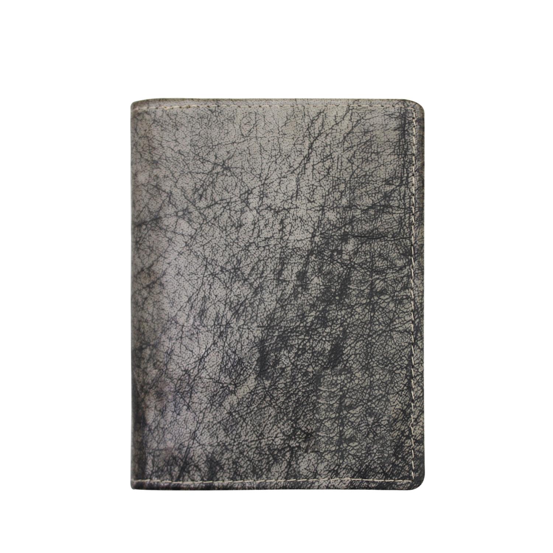 Men Genuine Leather Bifold Standing Wallet