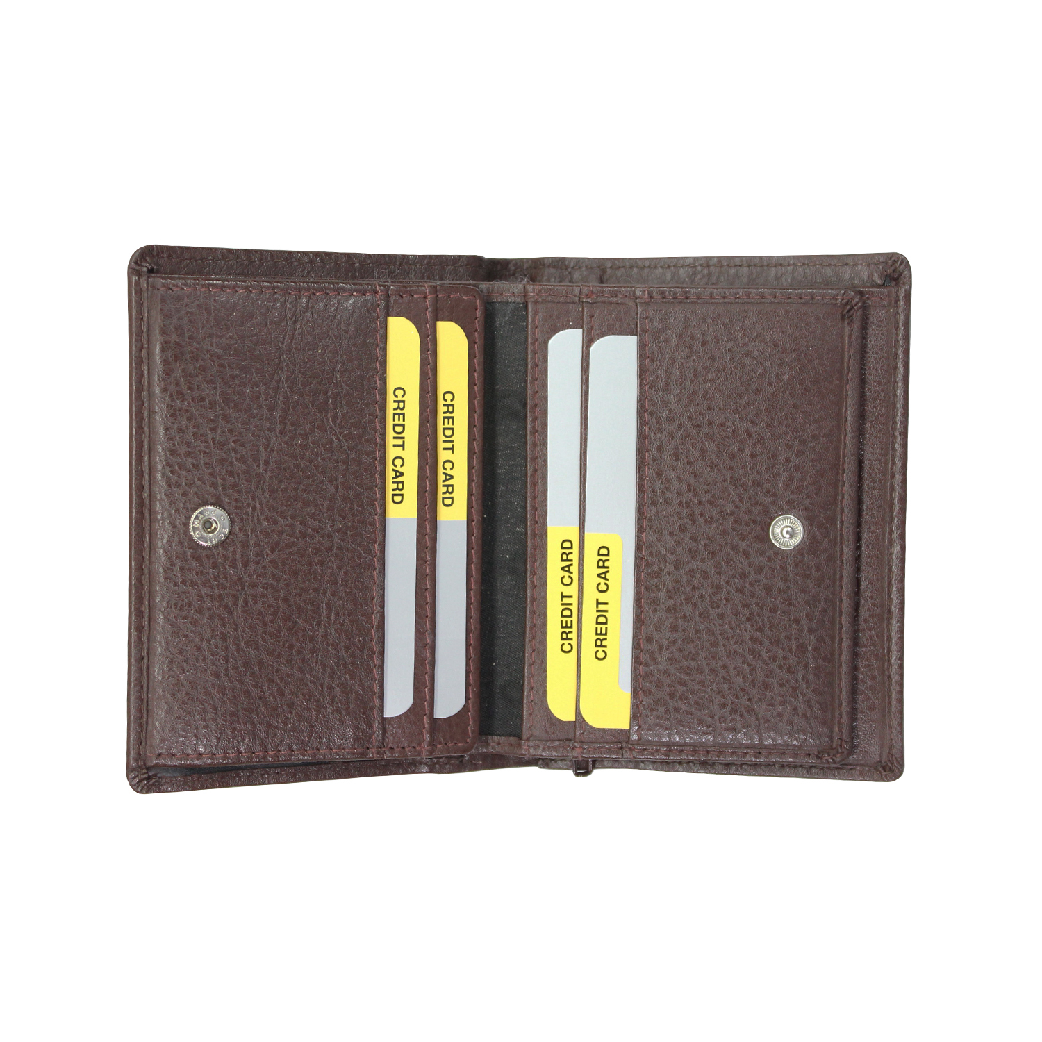 Genuine Leather Standing Bifold Wallet For Men
