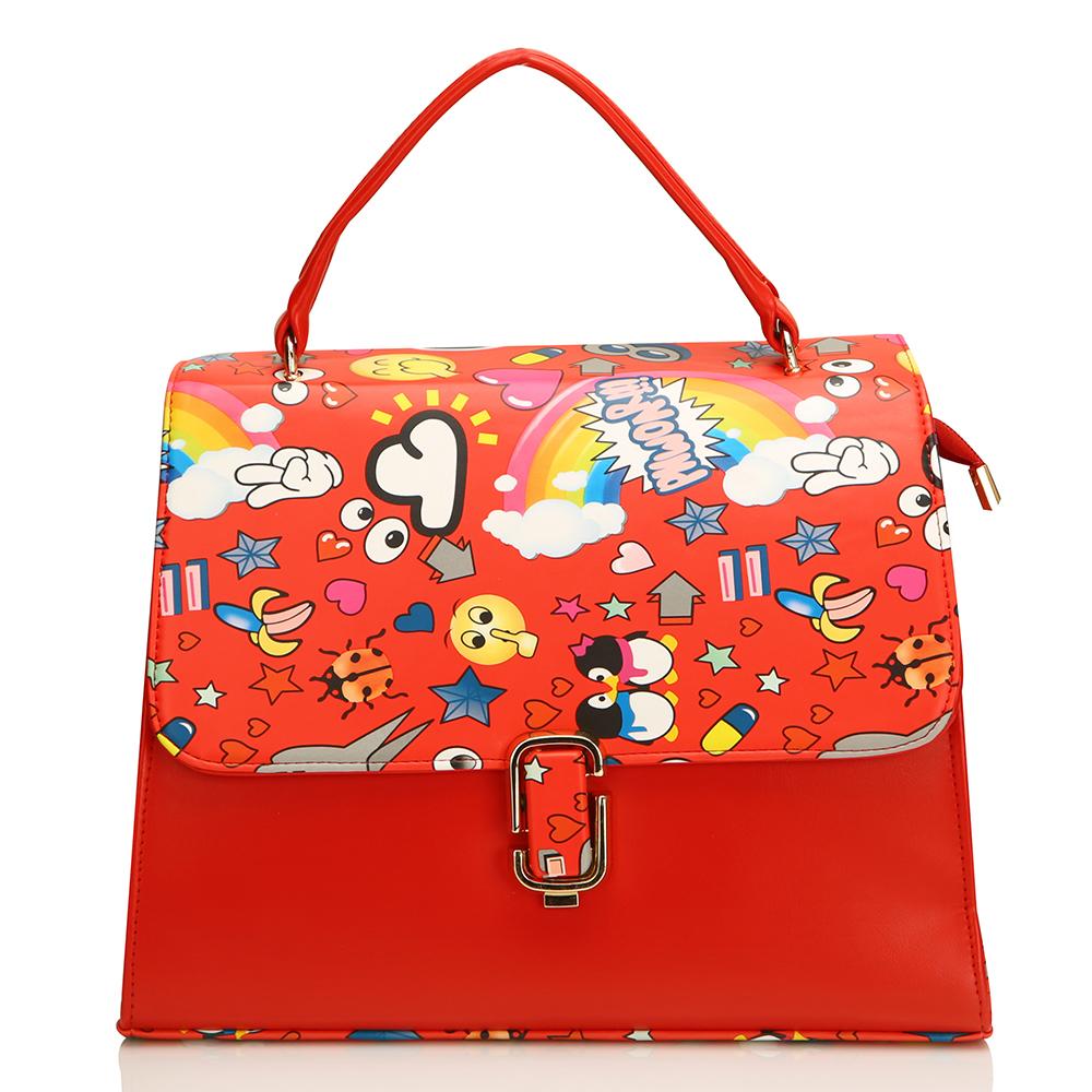 Ladies Printed Leather Handbag