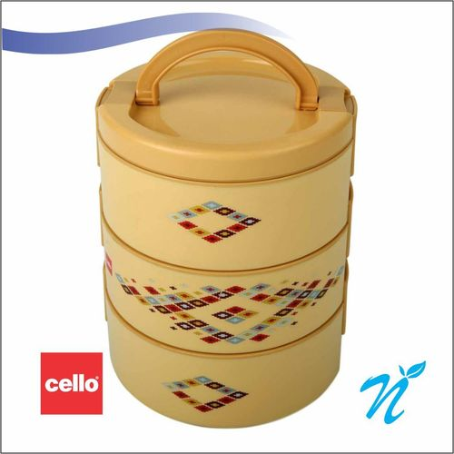 Cello Decker Insulated Lunch Carrier (3 Container) Small Beige