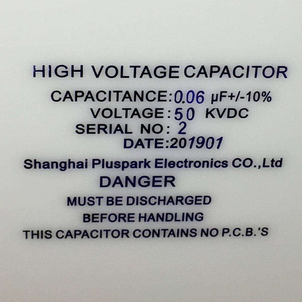 High Voltage Pulse Capacitor 0.06uF 50kV ,60nF