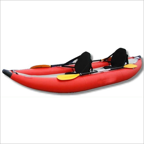 Red Inflatable Kayak boat