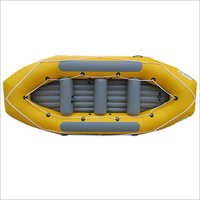 Portable Inflatable Boat, yellow raft tube and grey air floor, raft boat with 280cm