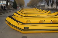 Rescue Boat, life raft, rescue raft boat, inflatable raft boat with red, 440cm