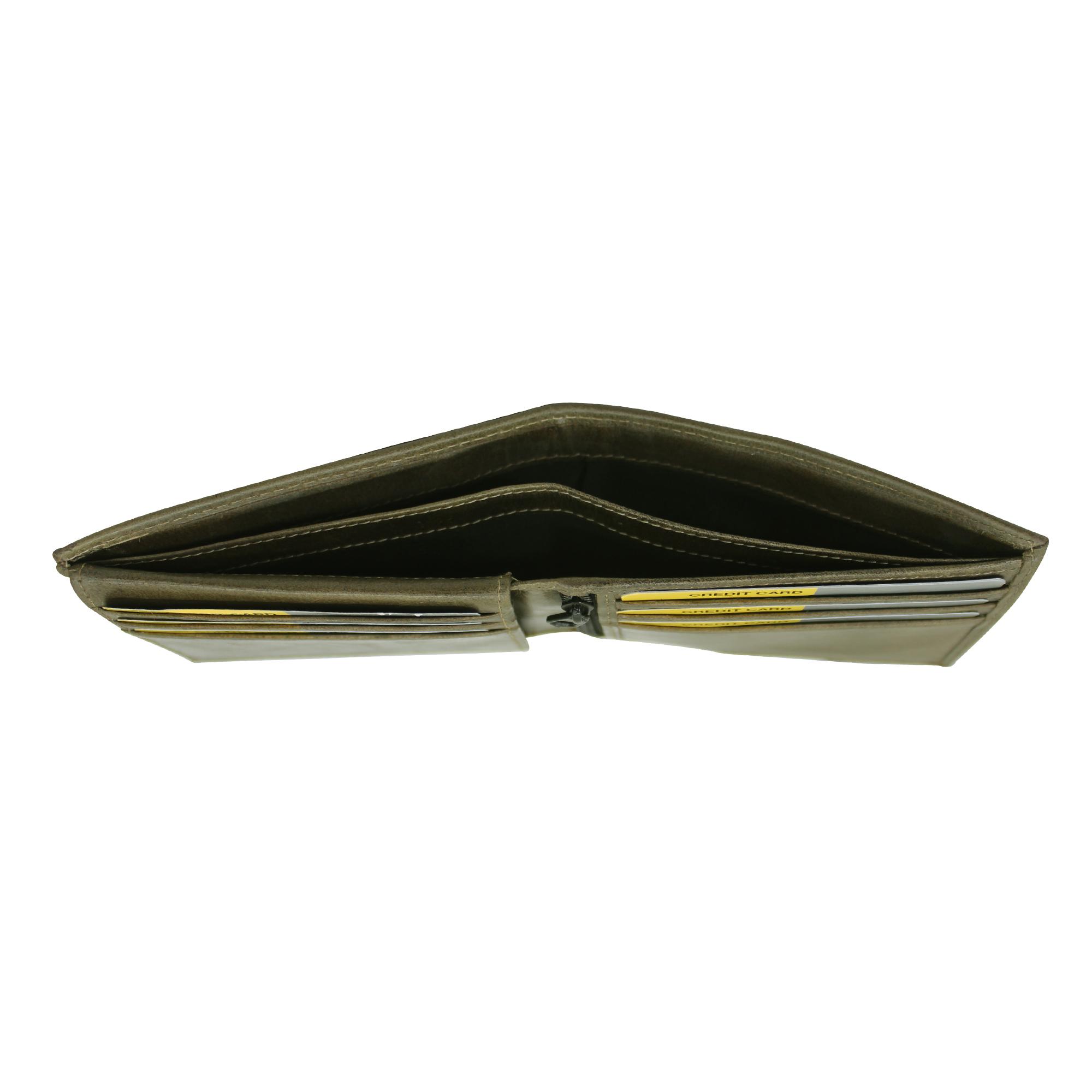 Men Genuine Leather Bifold Slim Wallet