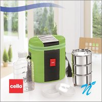 Cello Khaopiyo Lunch packs (3 Container) Green