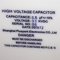 0.5uF 30kV Capacitor, High Voltage capacitor