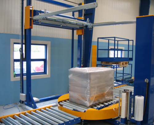 Automation in Stretch Wrapping Machine