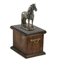 Urn For Horse Ashes with a Standing Statue