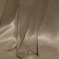 LONG CLEAR GLASS FLOWER VASE